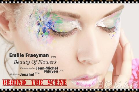 emilie fraeyman in beauty of flowers bts
