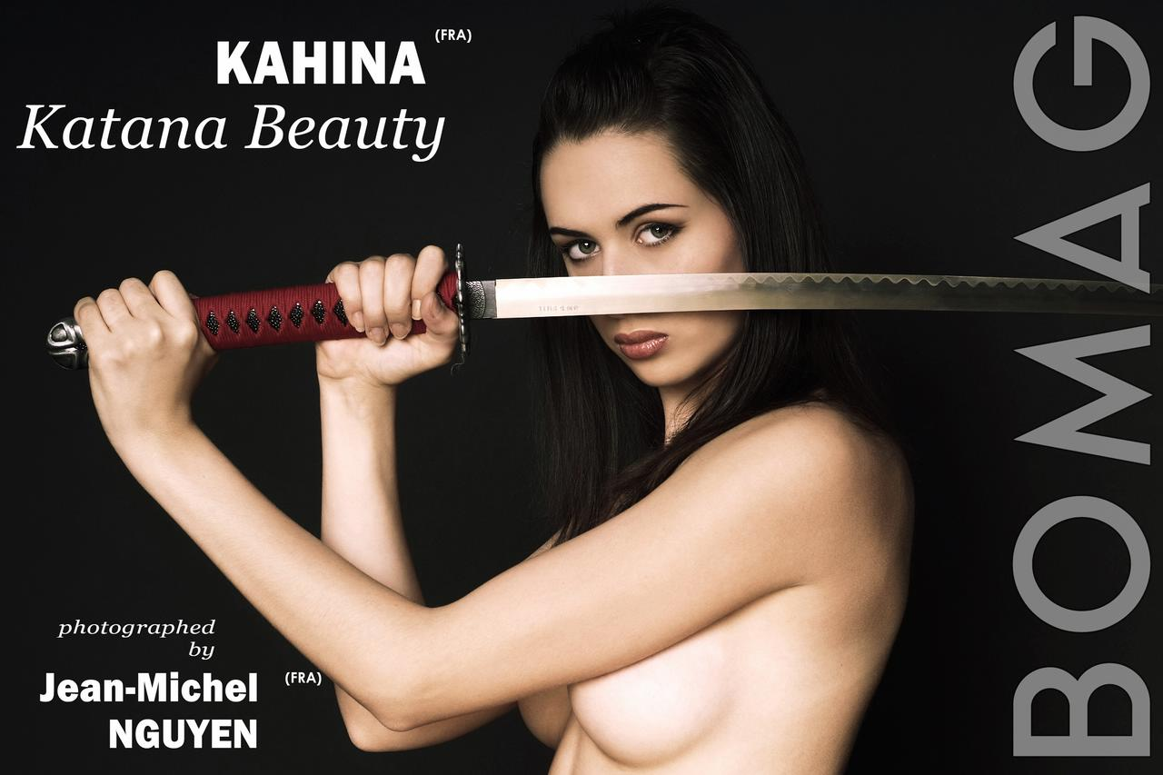 kahina in katana beauty by jean michel nguyen