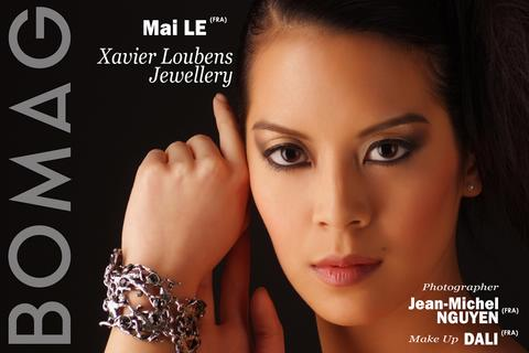 mai le in xavier loubens jewellery by jean michel nguyen and dali